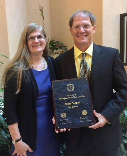Phil Dobbins recognized at Teacher of the Year Ceremony