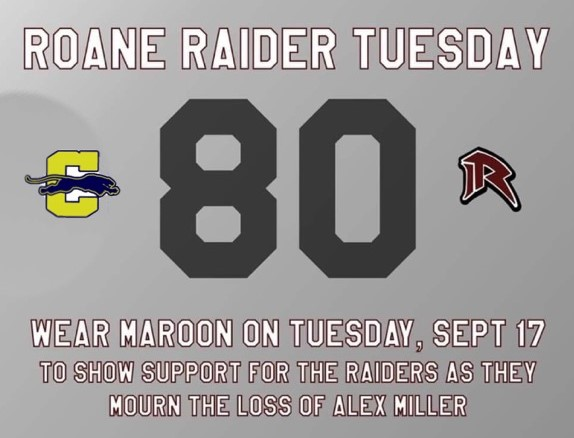 Tribute to Alex Miller. A Roane County football player who died after collapsing on the football field.